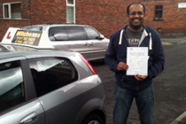 Abas had driving lessons in Ashton -Under-Lyne.