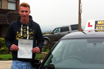 Aiden had driving lessons in Dukinfield.