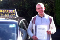 Alex had driving lessons in Dukinfield.