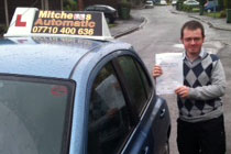 John had automatic driving lessons in Hyde, Tameside