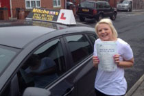 Natalie had driving lessons in Hyde