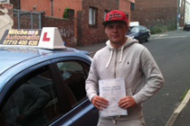 Oliver had driving lessons in Stalybridge
