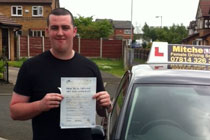 Ryan from Dukinfield had driving lessons in Tameside
