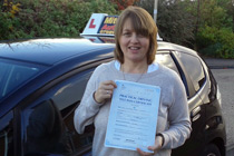 Kath had automatic driving lessons in Cale Green, Stockport