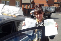 Kayleigh driving lessons Hyde